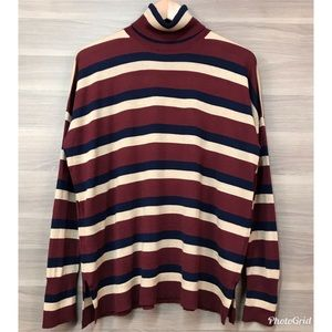 NWT J. Crew Striped Turtleneck Top Sweater